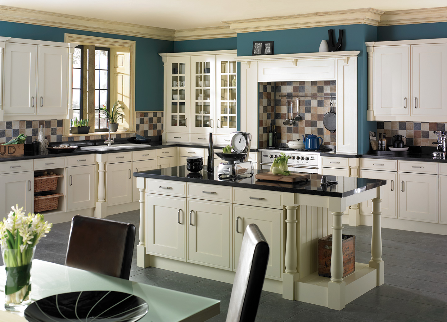 Edwardian Buttermilk Kitchen Traditional Sussex
