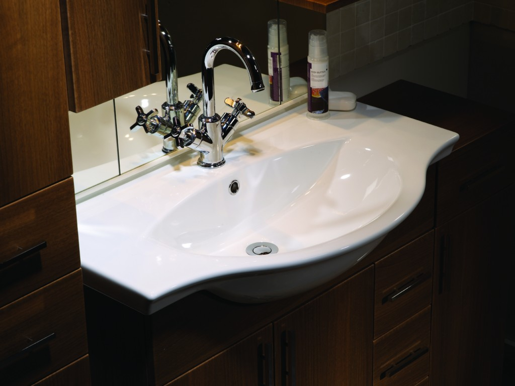 Ella Walnut Basin luxury bathroom
