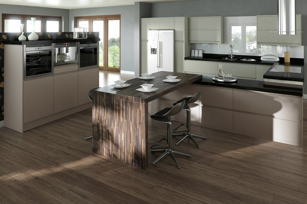 Inline Grey Taupe Kitchen Sheraton