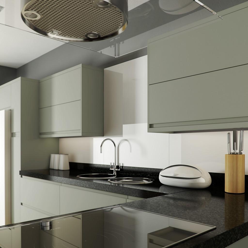 Inline Sage Grey Cameo Kitchen
