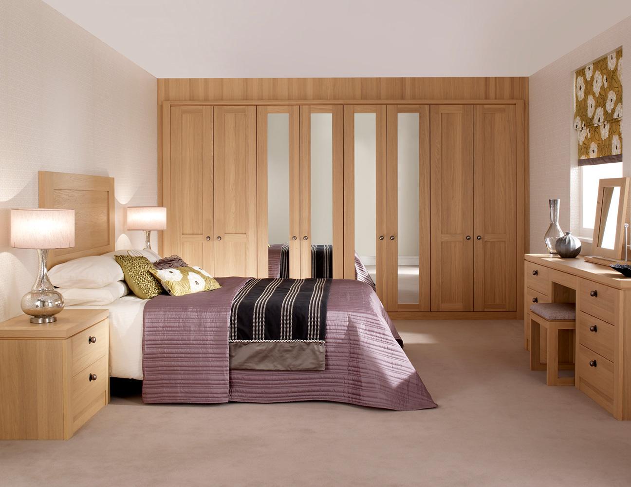 albany light oak bedroom wardrobes