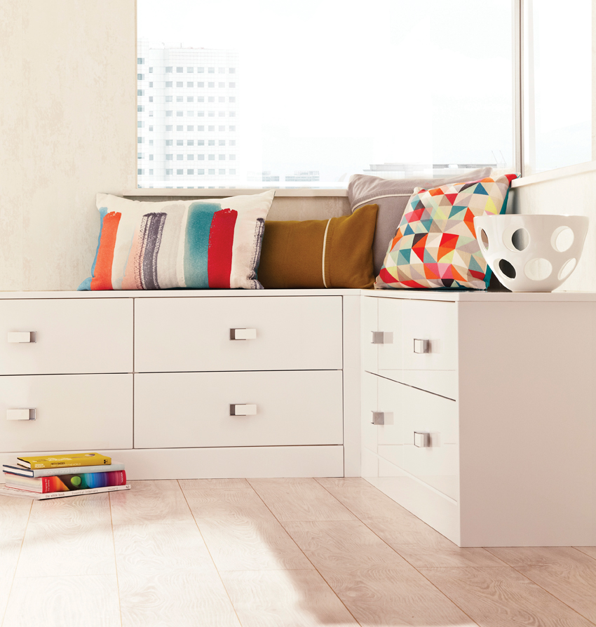 lustro modern bedroom white cupboards