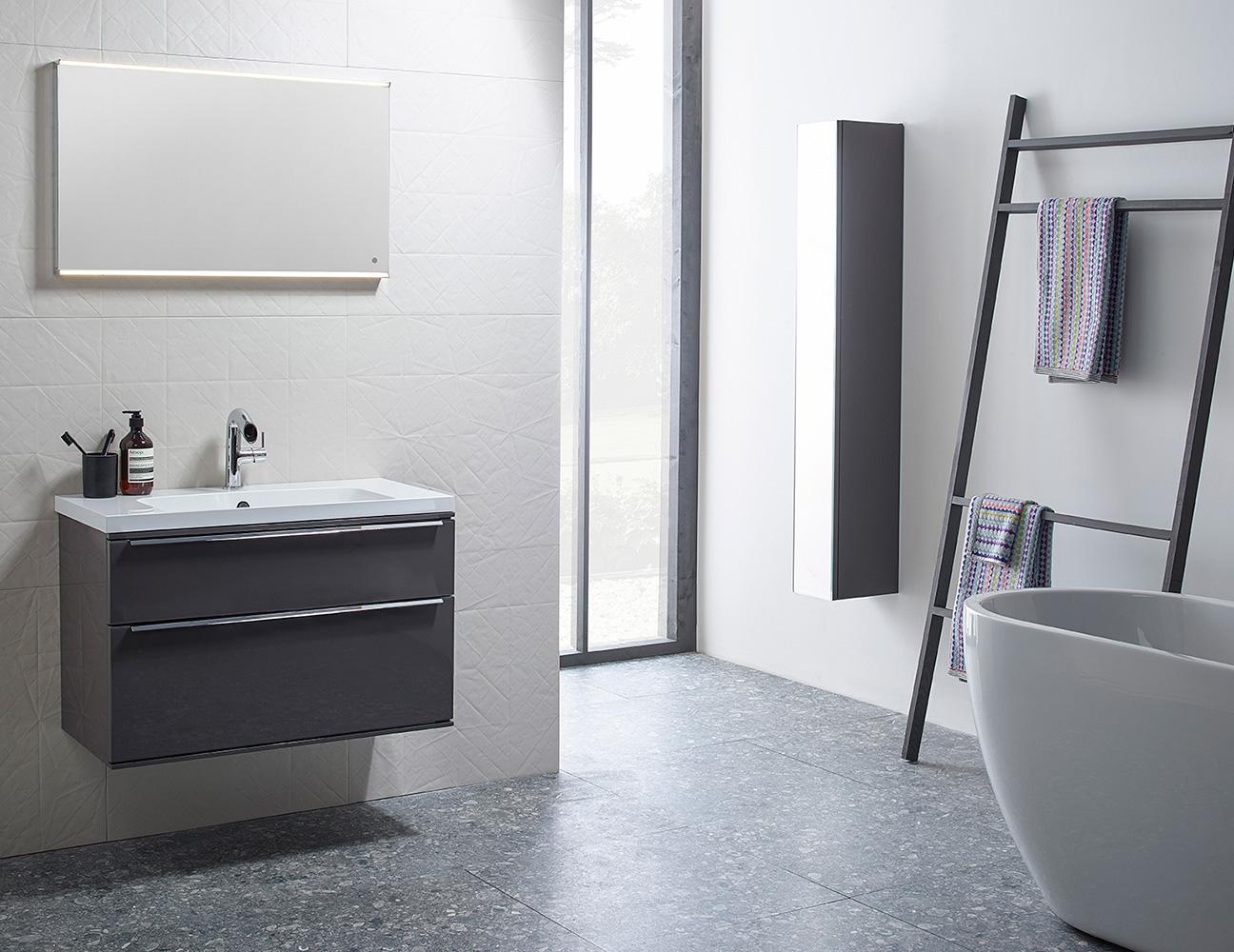 modern bathroom tiled marble stainless