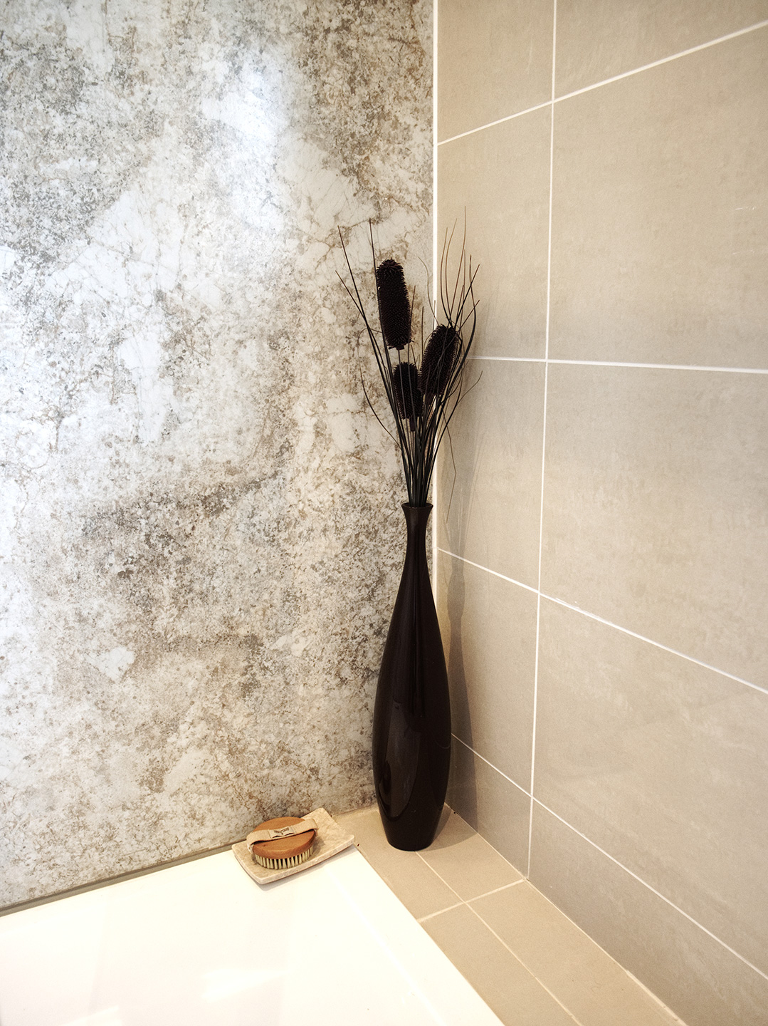 Bathroom remodel with walk-in shower - Cannadines