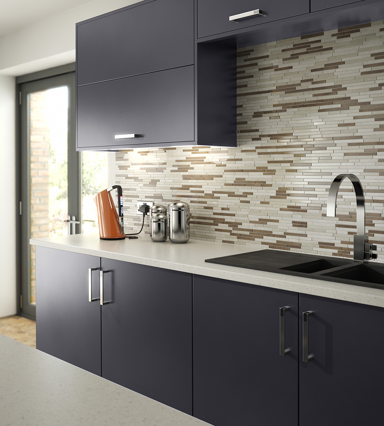modern grey kitchen cube anthracite
