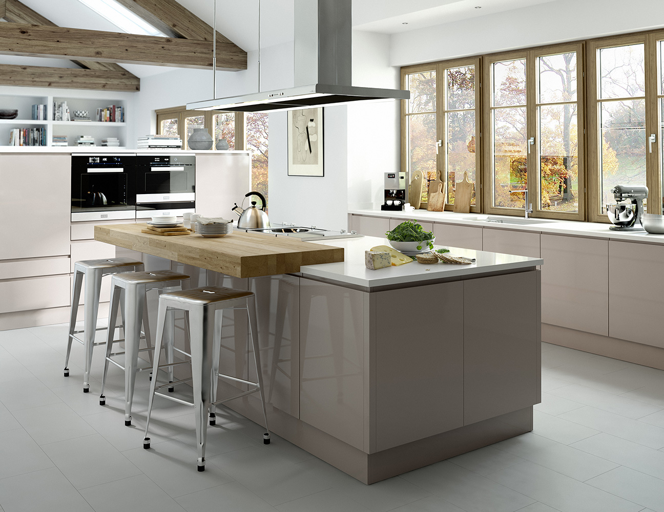 modern kitchen Inline gloss cashmere