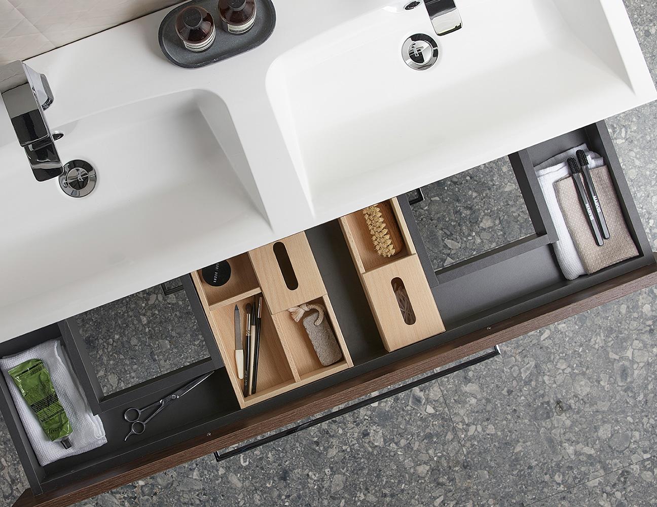 modern scheme bathroom sink storage