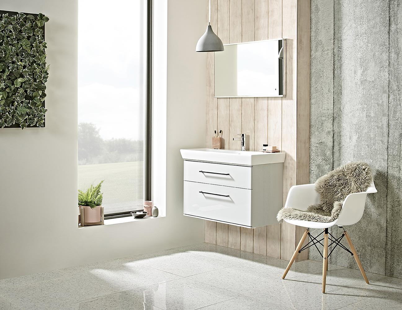 scheme bathroom glass mirror white