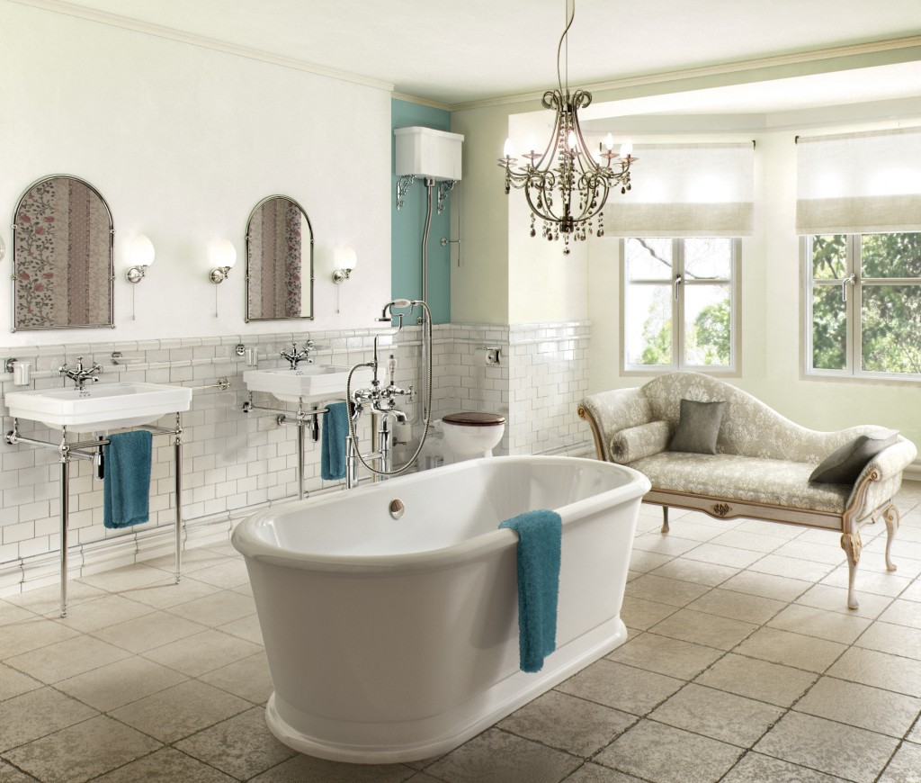 traditional bathroom design double sink