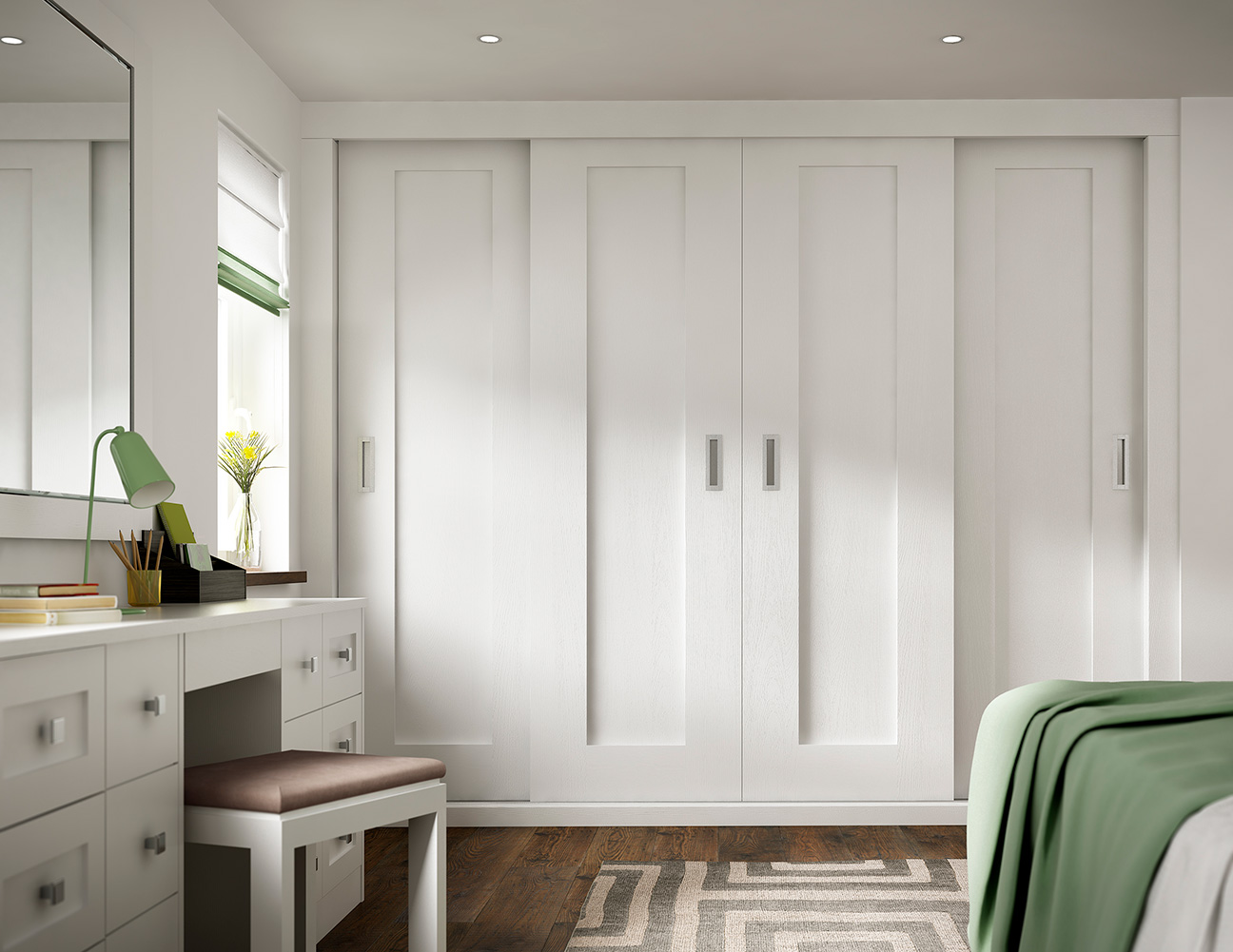 traditional white bedroom wardrobes painted