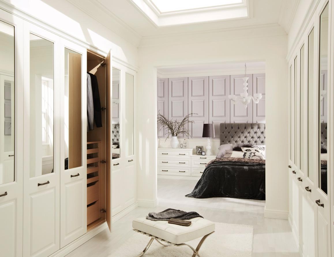 walk in wardrobe modern white